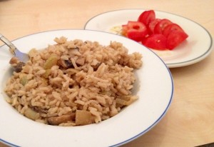 ריזוטו-עצלנים עם פטריות, אספרגוס לבן ושמנת צמחית